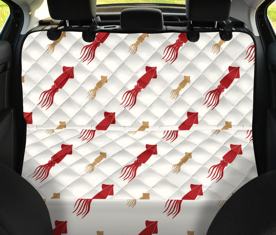 Giant Squid Pattern Print Design 01 Rear Dog Car Seat Cover Hammock
