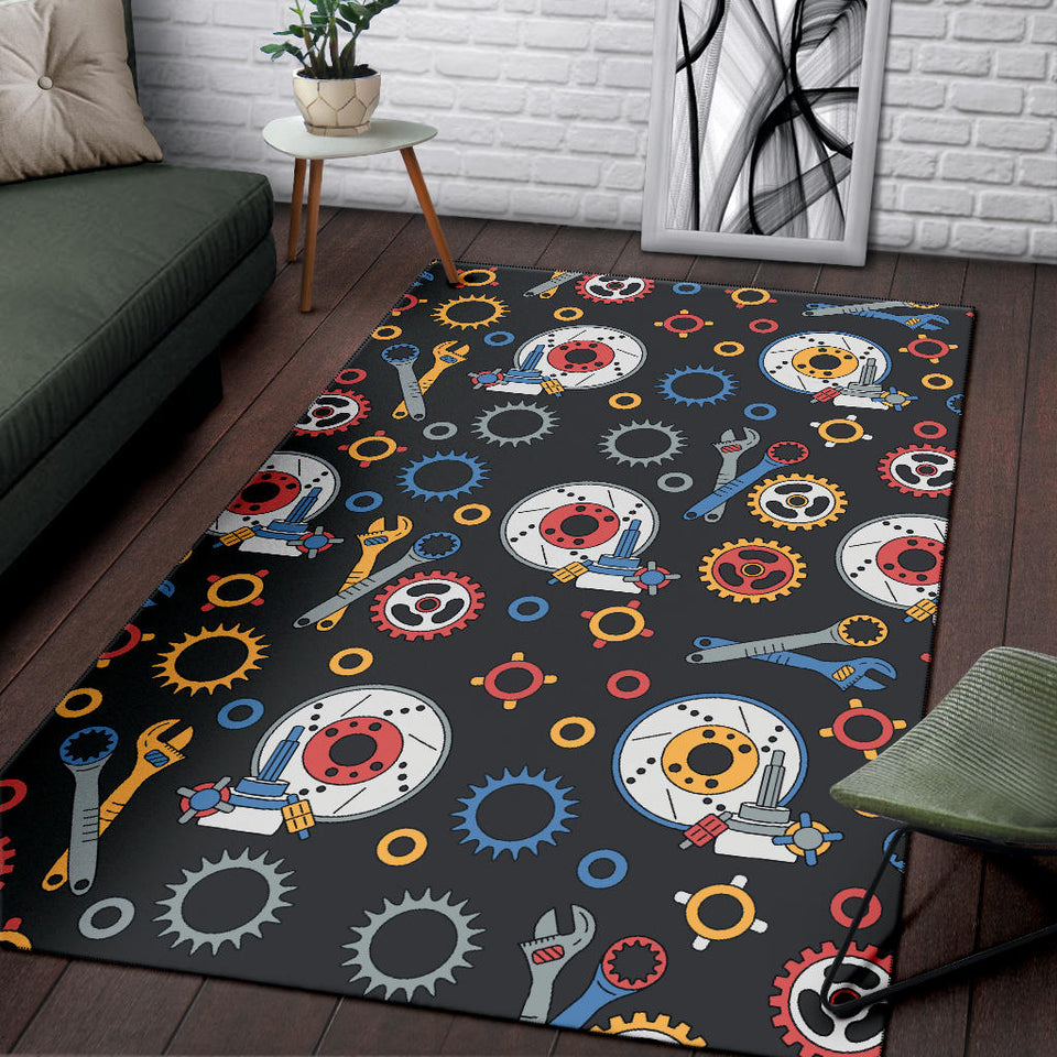 Mechanic Pattern Print Design 01 Area Rug