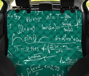 Math Pattern Print Design 01 Rear Dog Car Seat Cover Hammock
