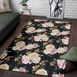 Rose Pattern Print Design A01 Area Rug