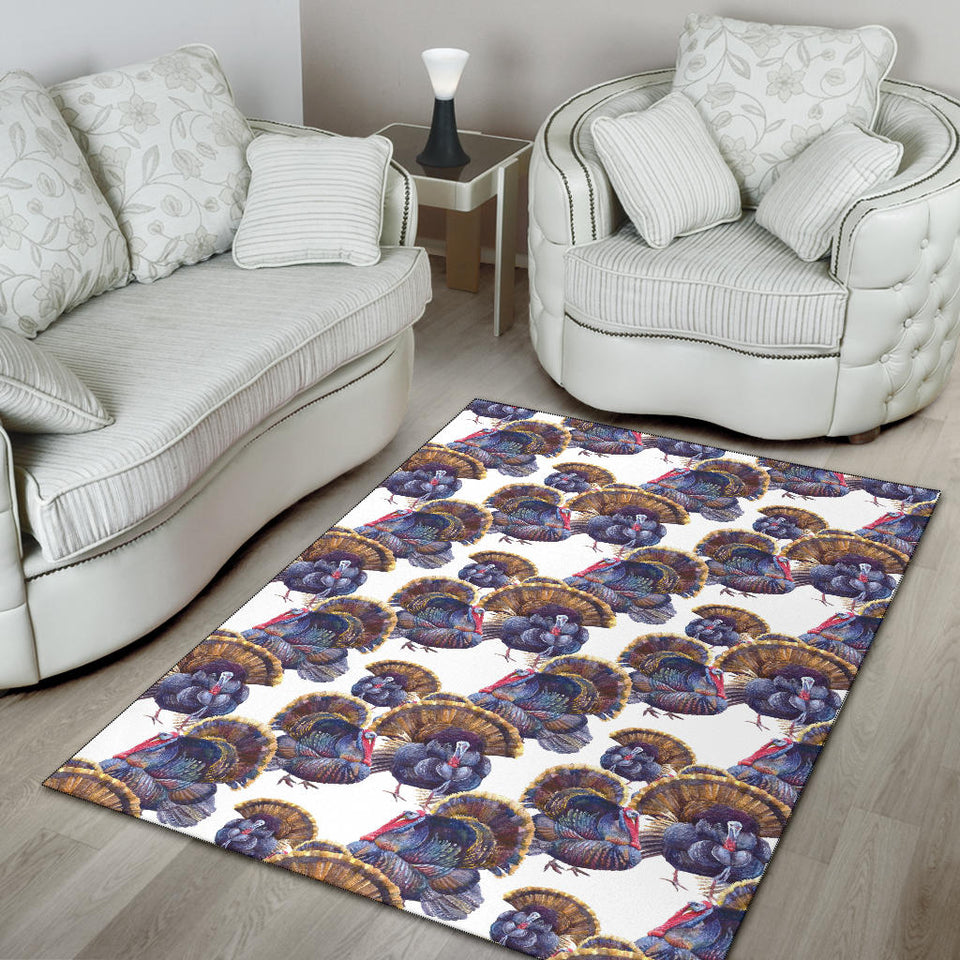 Turkey Pattern Print Design 01 Area Rug