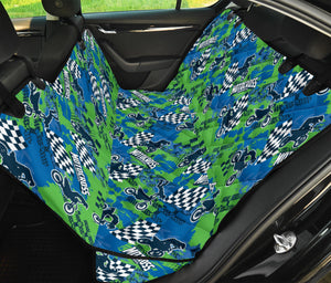 Motocross Pattern Print Design 04 Rear Dog Car Seat Cover Hammock