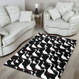 Goose Pattern Print Design 01 Area Rug