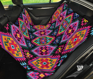 Mexican Pattern Print Design 02 Rear Dog Car Seat Cover Hammock