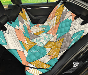 Mountain Pattern Print Design 02 Rear Dog Car Seat Cover Hammock