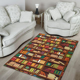 Book Pattern Print Design 06 Area Rug