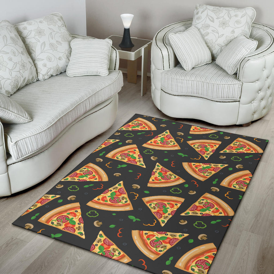 Pizza Pattern Print Design A02 Area Rug