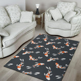 KOI Fish Pattern Print Design 04 Area Rug
