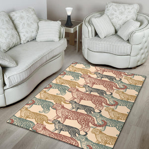 Jaguar Pattern Print Design 01 Area Rug
