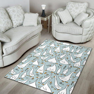 Goose Pattern Print Design 03 Area Rug
