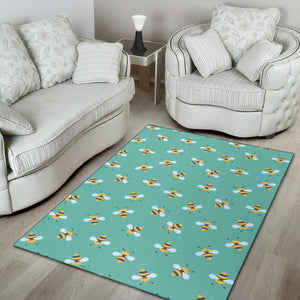 Bee Pattern Print Design 01 Area Rug