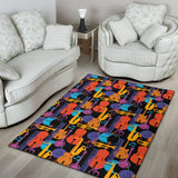 Jazz Pattern Print Design 03 Area Rug