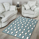 Penguin Pattern Print Design A02 Area Rug