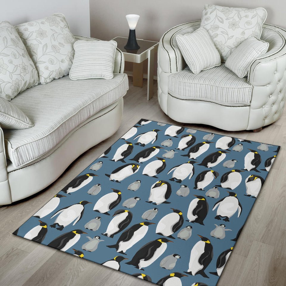 Penguin Pattern Print Design A03 Area Rug