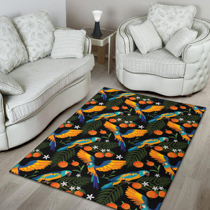 Macaw Pattern Print Design 03 Area Rug