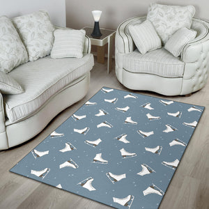 Ice Skate Pattern Print Design 02 Area Rug