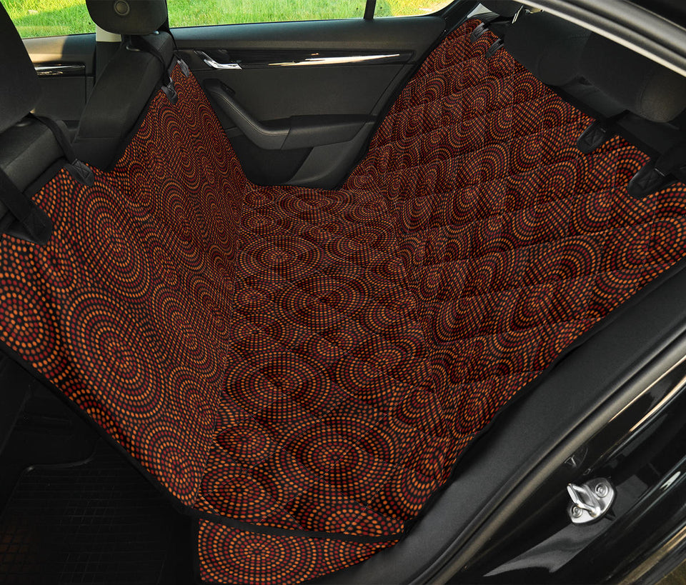 Aboriginal Pattern Print Design 02 Rear Dog Car Seat Cover Hammock