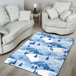 Mountain Pattern Print Design 03 Area Rug