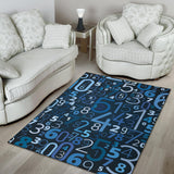 Number Pattern Print Design A02 Area Rug