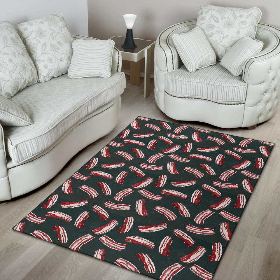 Bacon Pattern Print Design 02 Area Rug
