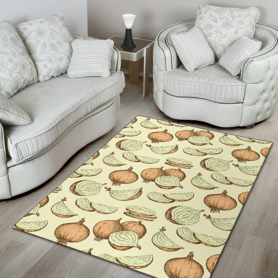Onion Pattern Print Design A02 Area Rug