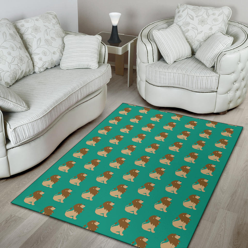 Lion Pattern Print Design 02 Area Rug