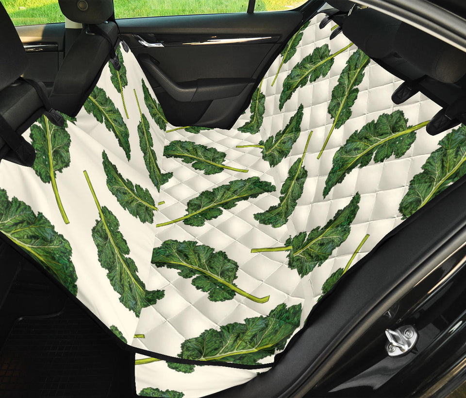 Kale Pattern Print Design 03 Rear Dog Car Seat Cover Hammock