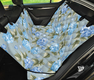Hydrangea Pattern Print Design 01 Rear Dog Car Seat Cover Hammock