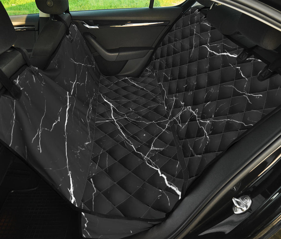 Marble Pattern Print Design 04 Rear Dog Car Seat Cover Hammock