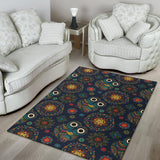 Owl Boho Style Pattern Print Design A04 Area Rug