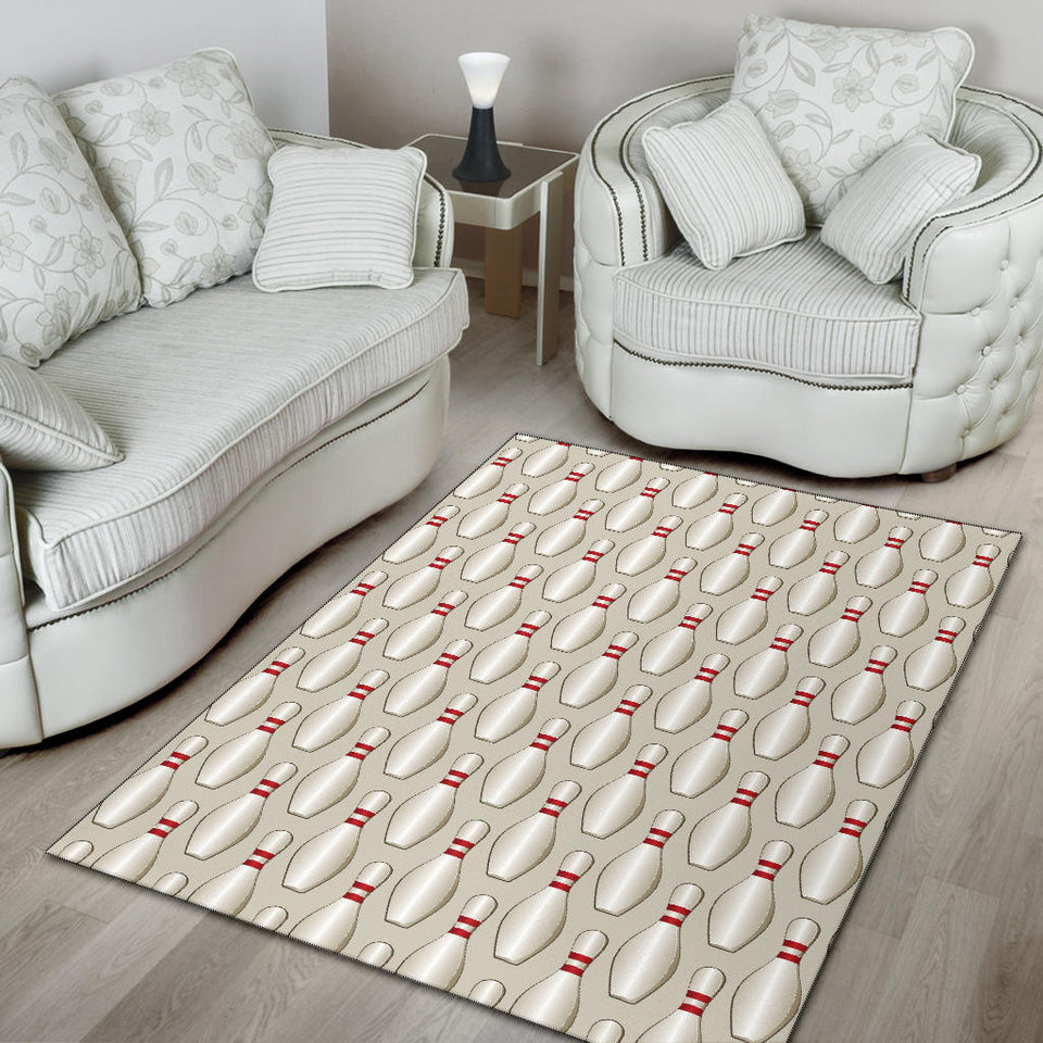Bowling Pin Pattern Print Design 01 Area Rug