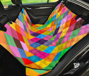 Harlequin Pattern Print Design 02 Rear Dog Car Seat Cover Hammock