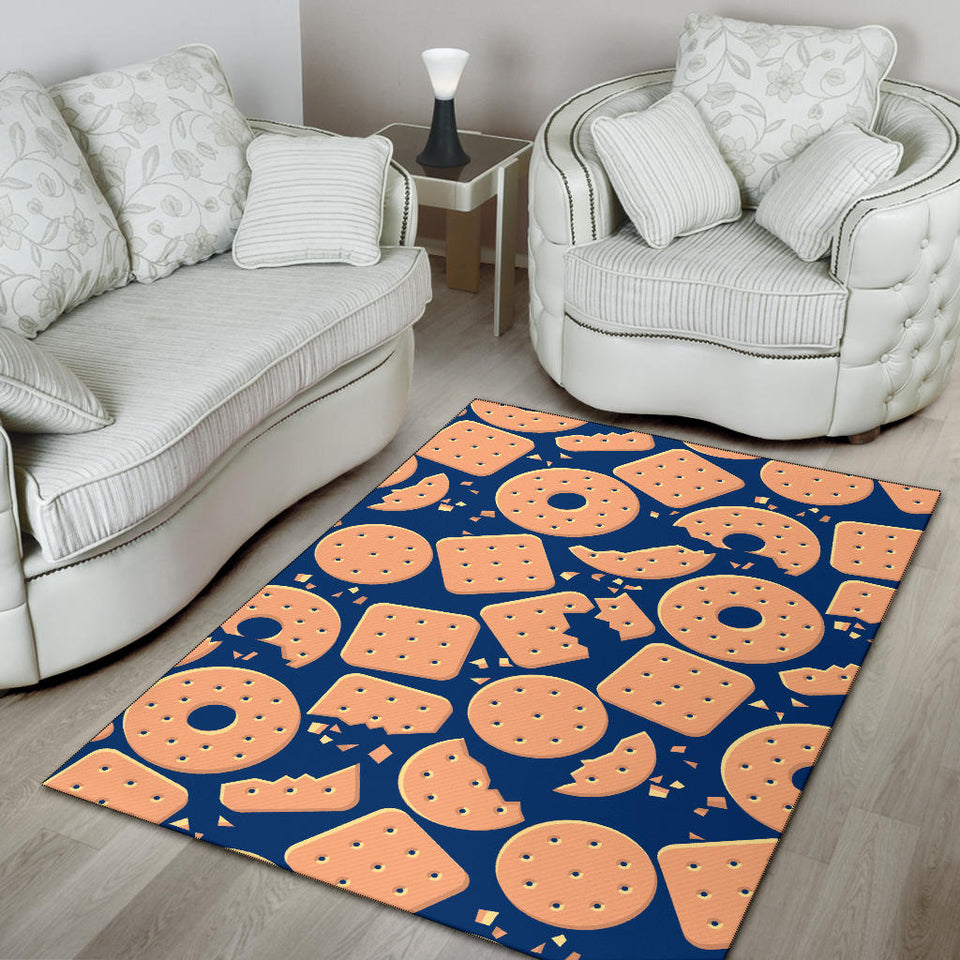 Cracker Pattern Print Design 03 Area Rug