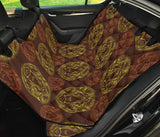 Lion Pattern Print Design 04 Rear Dog Car Seat Cover Hammock