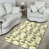 Donkey Baby Pattern Print Design 02 Area Rug