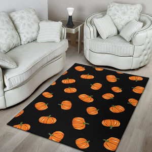 Pumpkin Pattern Print Design A05 Area Rug