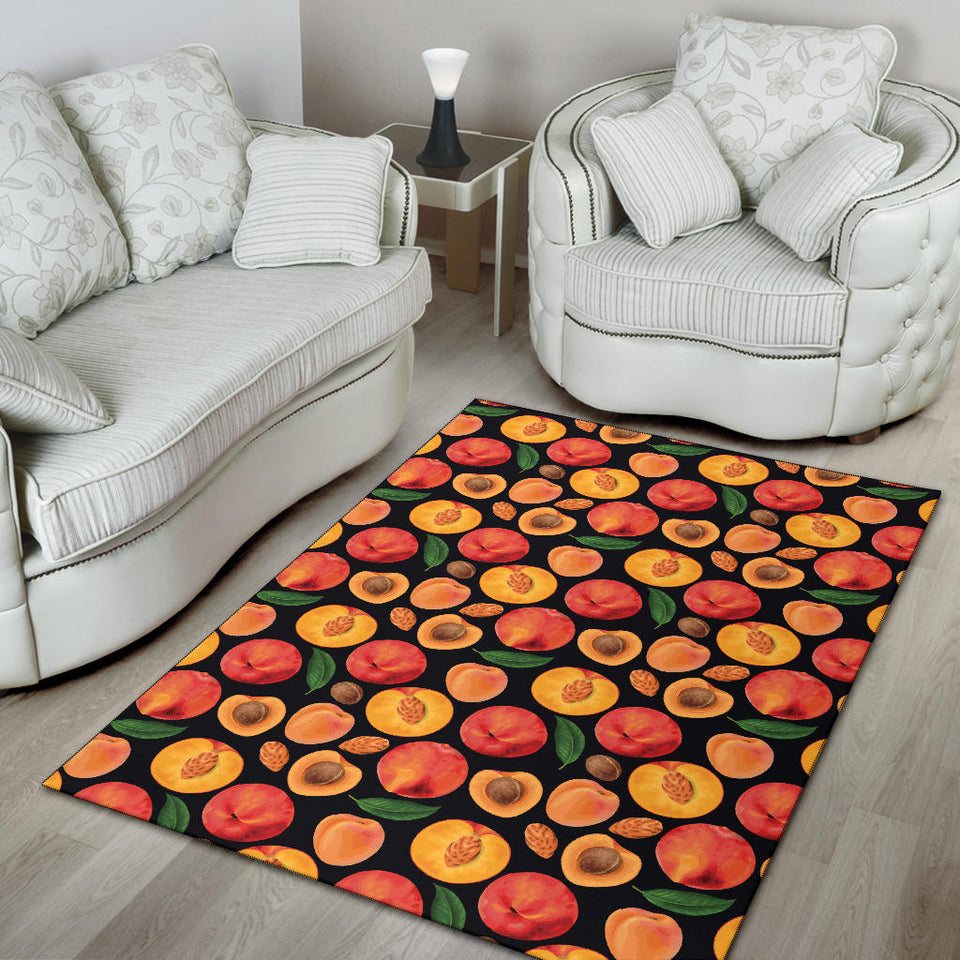 Peach Pattern Print Design A02 Area Rug