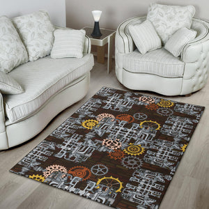 Mechanic Pattern Print Design 04 Area Rug