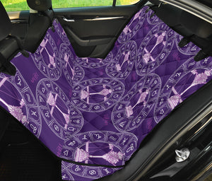 Libra Pattern Print Design 03 Rear Dog Car Seat Cover Hammock