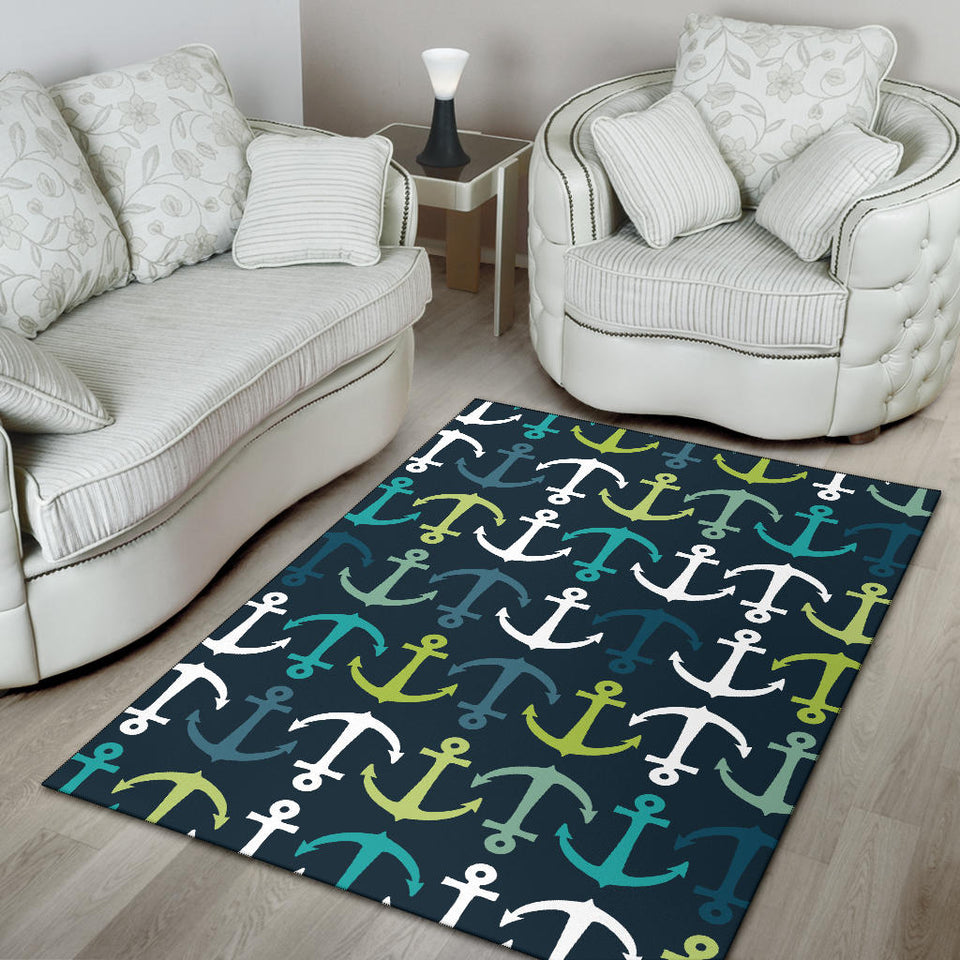 Anchor Pattern Print Design 03 Area Rug