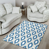 Ikat Pattern Print Design 02 Area Rug