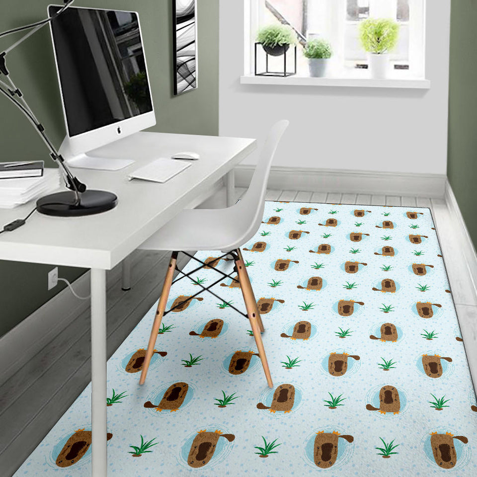 Platypus Pattern Print Design A04 Area Rug