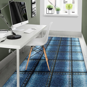 Jean Patchwork Pattern Print Design 02 Area Rug