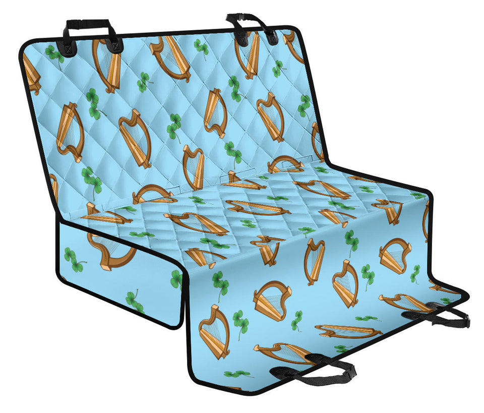 Harp Pattern Print Design 01 Rear Dog Car Seat Cover Hammock