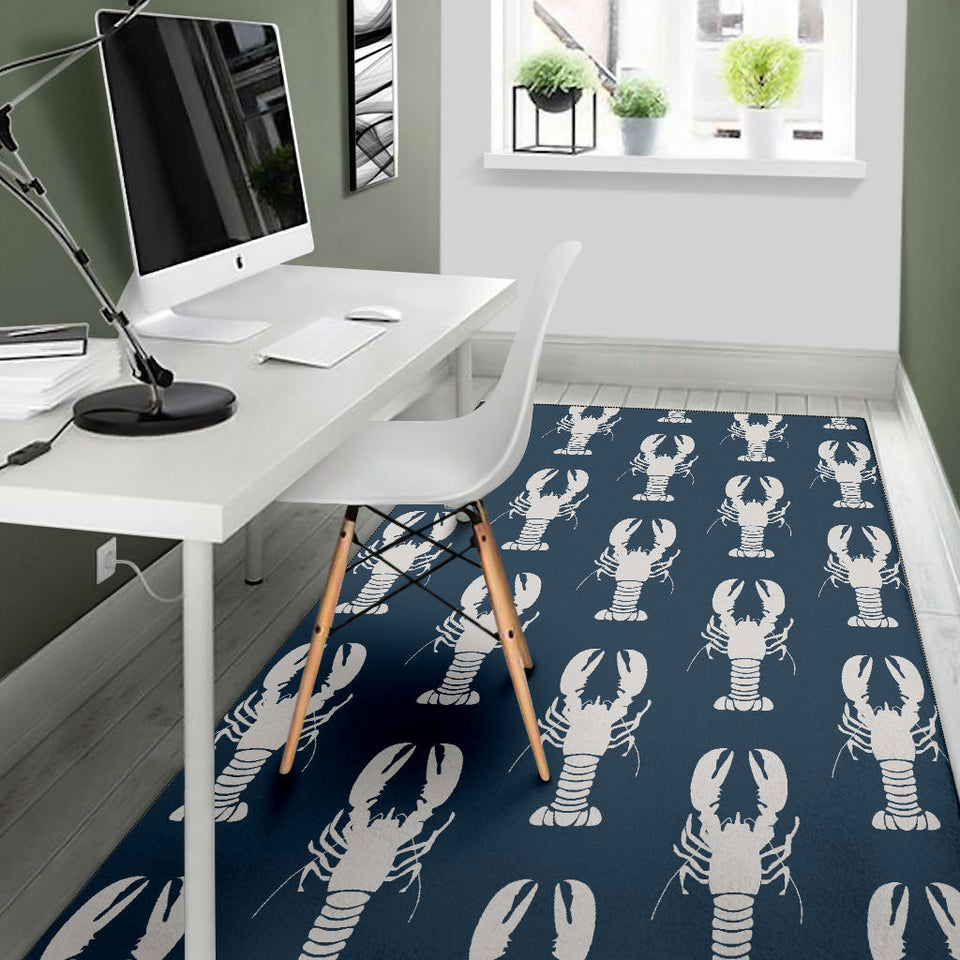 Lobster Pattern Print Design 02 Area Rug