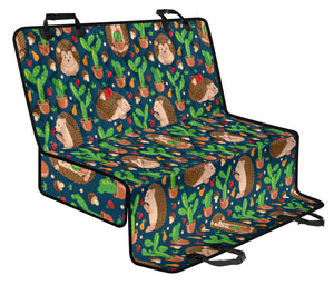 Hedgehog Cactus Pattern Print Design 04 Rear Dog Car Seat Cover Hammock