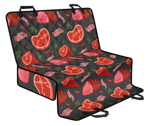 Meat Pattern Print Design 03 Rear Dog Car Seat Cover Hammock