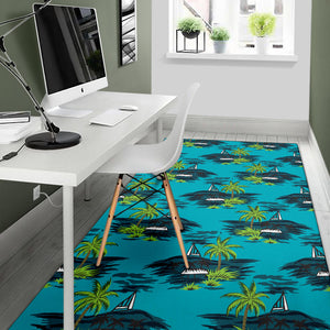 Pacific island Pattern Print Design A01 Area Rug