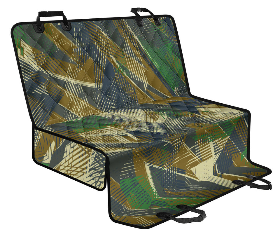 Military Camouflage Pattern Print Design 01 Rear Dog Car Seat Cover Hammock
