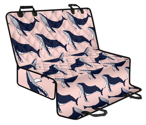 Humpback Whale Pattern Print Design 02 Rear Dog Car Seat Cover Hammock